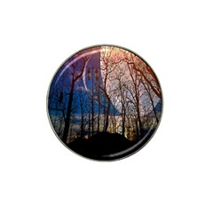 Full Moon Forest Night Darkness Hat Clip Ball Marker (10 Pack) by Nexatart