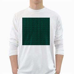 Golf Golfer Background Silhouette White Long Sleeve T-Shirts
