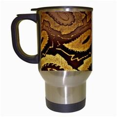 Golden Patterned Paper Travel Mugs (White)