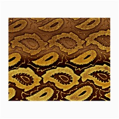 Golden Patterned Paper Small Glasses Cloth by Nexatart