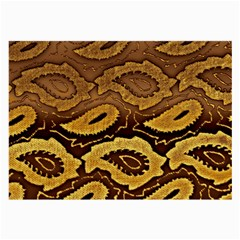 Golden Patterned Paper Large Glasses Cloth (2 Side) by Nexatart