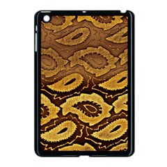 Golden Patterned Paper Apple Ipad Mini Case (black) by Nexatart