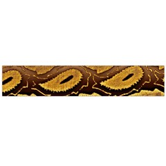 Golden Patterned Paper Flano Scarf (large) by Nexatart