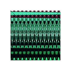 Green Triangle Patterns Acrylic Tangram Puzzle (4  x 4 ) by Nexatart