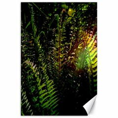 Green Leaves Psychedelic Paint Canvas 24  X 36  by Nexatart