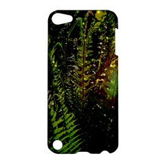 Green Leaves Psychedelic Paint Apple Ipod Touch 5 Hardshell Case by Nexatart