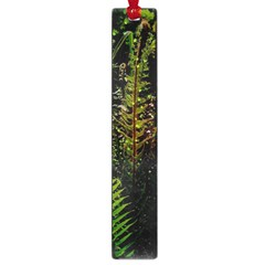 Green Leaves Psychedelic Paint Large Book Marks by Nexatart