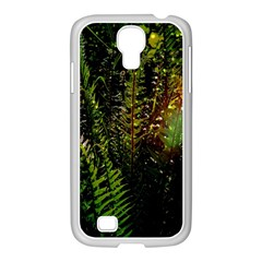 Green Leaves Psychedelic Paint Samsung Galaxy S4 I9500/ I9505 Case (white) by Nexatart
