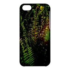 Green Leaves Psychedelic Paint Apple Iphone 5c Hardshell Case by Nexatart