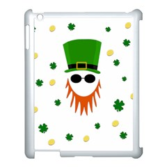 St  Patrick s Day Apple Ipad 3/4 Case (white) by Valentinaart