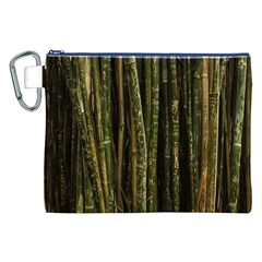 Green And Brown Bamboo Trees Canvas Cosmetic Bag (xxl)
