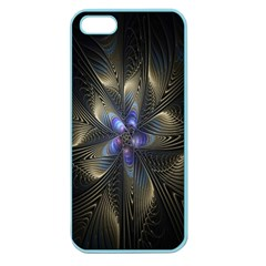 Fractal Blue Abstract Fractal Art Apple Seamless Iphone 5 Case (color) by Nexatart
