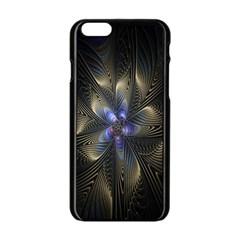 Fractal Blue Abstract Fractal Art Apple Iphone 6/6s Black Enamel Case by Nexatart