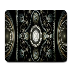 Fractal Beige Blue Abstract Large Mousepads by Nexatart