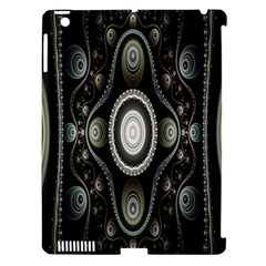 Fractal Beige Blue Abstract Apple Ipad 3/4 Hardshell Case (compatible With Smart Cover) by Nexatart