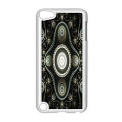 Fractal Beige Blue Abstract Apple Ipod Touch 5 Case (white) by Nexatart