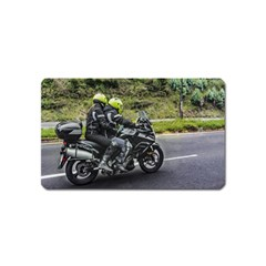 Motorcycles Riders At Avenue Magnet (name Card) by dflcprints