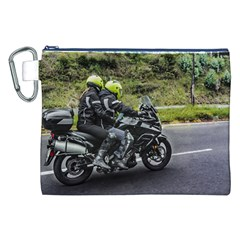Motorcycles Riders At Avenue Canvas Cosmetic Bag (xxl) by dflcprints
