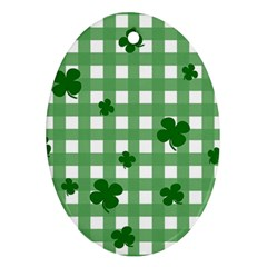Clover pattern Ornament (Oval) by Valentinaart