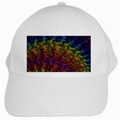 Fractal Art Design Colorful White Cap