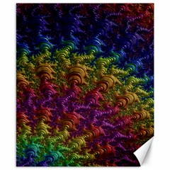 Fractal Art Design Colorful Canvas 8  x 10  by Nexatart