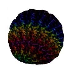 Fractal Art Design Colorful Standard 15  Premium Flano Round Cushions by Nexatart
