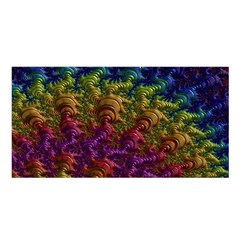 Fractal Art Design Colorful Satin Shawl by Nexatart