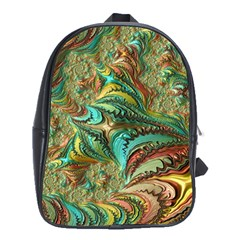 Fractal Artwork Pattern Digital School Bags (xl)  by Nexatart