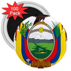 Coat Of Arms Of Ecuador 3  Magnets (100 Pack) by abbeyz71