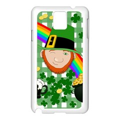 Lucky Irish Samsung Galaxy Note 3 N9005 Case (white) by Valentinaart