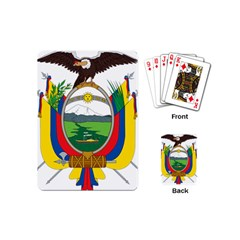 Coat Of Arms Of Ecuador Playing Cards (mini)  by abbeyz71