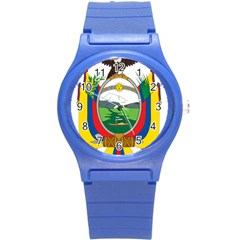 Coat Of Arms Of Ecuador Round Plastic Sport Watch (s) by abbeyz71