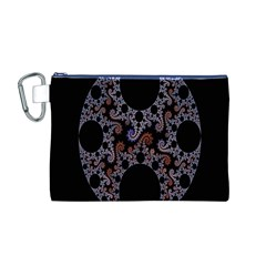 Fractal Complexity Geometric Canvas Cosmetic Bag (m) by Nexatart