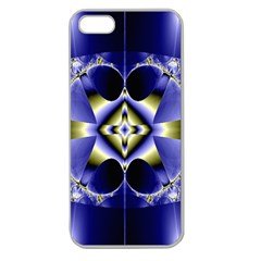 Fractal Fantasy Blue Beauty Apple Seamless Iphone 5 Case (clear) by Nexatart