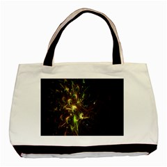 Fractal Flame Light Energy Basic Tote Bag (Two Sides) by Nexatart