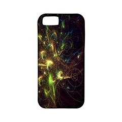 Fractal Flame Light Energy Apple Iphone 5 Classic Hardshell Case (pc+silicone) by Nexatart