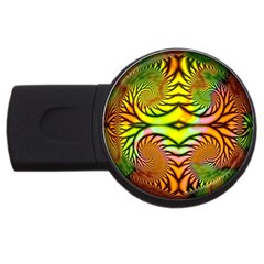 Fractals Ball About Abstract USB Flash Drive Round (4 GB)