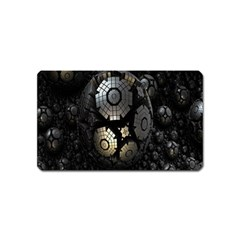 Fractal Sphere Steel 3d Structures Magnet (Name Card) by Nexatart
