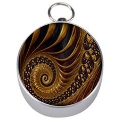 Fractal Spiral Endless Mathematics Silver Compasses by Nexatart