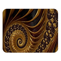 Fractal Spiral Endless Mathematics Double Sided Flano Blanket (large)  by Nexatart