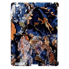 Frost Leaves Winter Park Morning Apple Ipad 3/4 Hardshell Case (compatible With Smart Cover) by Nexatart