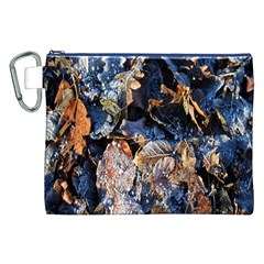 Frost Leaves Winter Park Morning Canvas Cosmetic Bag (xxl) by Nexatart