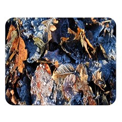 Frost Leaves Winter Park Morning Double Sided Flano Blanket (large)  by Nexatart
