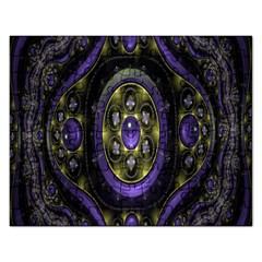 Fractal Sparkling Purple Abstract Rectangular Jigsaw Puzzl by Nexatart