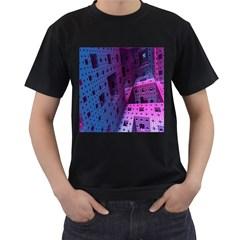 Fractals Geometry Graphic Men s T Shirt (black)