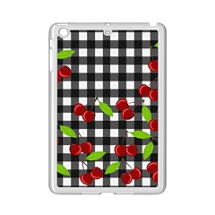 Cherries Plaid Pattern  Ipad Mini 2 Enamel Coated Cases by Valentinaart