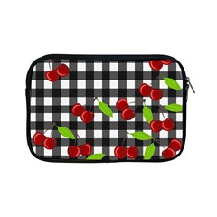Cherries Plaid Pattern  Apple Ipad Mini Zipper Cases by Valentinaart