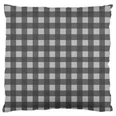 Gray Plaid Pattern Large Flano Cushion Case (two Sides) by Valentinaart