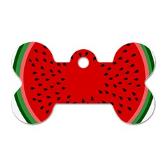 Watermelon Dog Tag Bone (two Sides) by Valentinaart