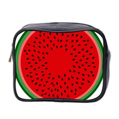 Watermelon Mini Toiletries Bag 2 Side by Valentinaart